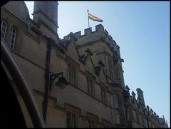 rainbow flag on the High