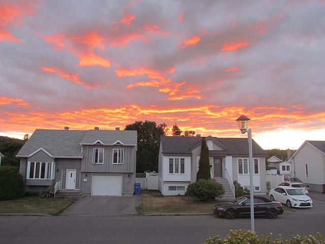 Le ciel en feu ce soir !