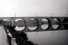 Railroadbridge over the Mincio (1972)