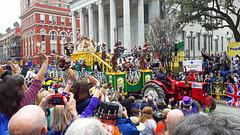 Der Zaun an Mardi Gras