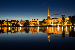 NEOWISE über Schwerin