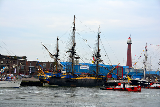 Sail 2015 – Götheborg in the IJmuiden harbour