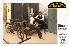 Steam - Workers on their lunch break - Swindon - 18.8.2015