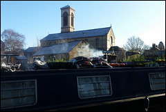 church by the canalside