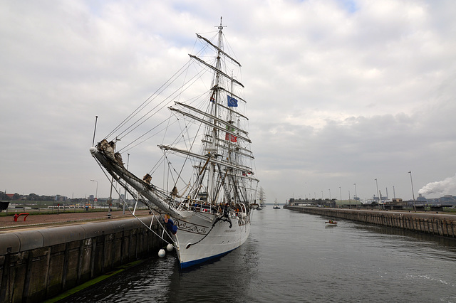 Sail 2015 – Christian Radich in the lock at IJmuiden