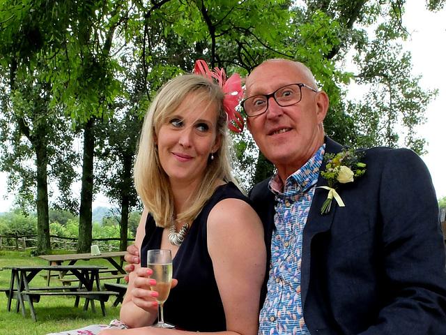 At Hannah and Dan's wedding