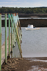 Workboat and Steel Pilings (2 of 3)