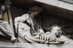 Detail of the Pediment of the British Museum, April 2013