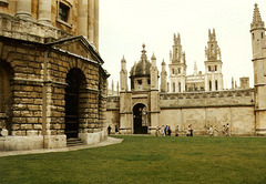 Oxford:  Radcliffe Camera (left) and All Souls College (3 x PiP)