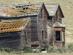 A digital setting capture of the Laing house, Alberta