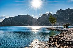Sun above Val di Ledro