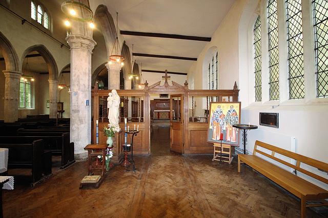 Screen to Canon Wood Memorial Chapel, St Clement's Church, Bridge Street, Cambridge