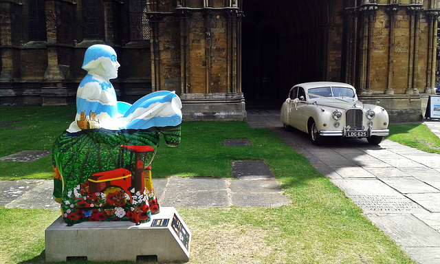 """""""The circle of Lincolnshire life""""   and Jaguar  MK VIIM ~ Lincoln's Knights trail"""