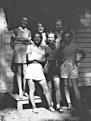 Young women in casual summer attire, c. 1936
