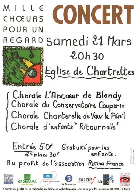 Mille Choeurs à Chartrettes le 21/03/1998