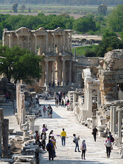 Ephesus- Curetes Street and the Celsus Library