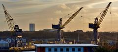 Cranes on The Tyne