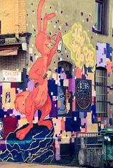 Hannover-Linden: Grey Walls are violent - Color the World