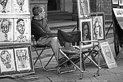 Street portraitist