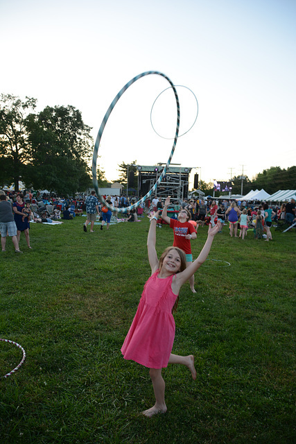 Hula hoops have become popular at festivals