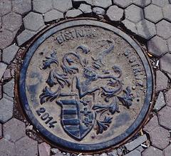 Deckel mit Wappen von Bistritz, Siebenbürgen