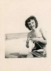 Knitting on the Beach