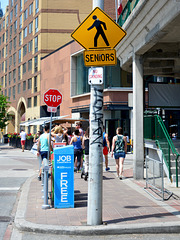 Canada 2016 – Toronto – Warning for seniors