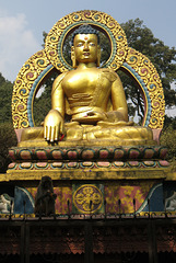 Bouddha à Swayambunath (Swayambu), près de Kathmandu (Népal)