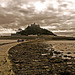 St Michaels Mount from the Causeway.