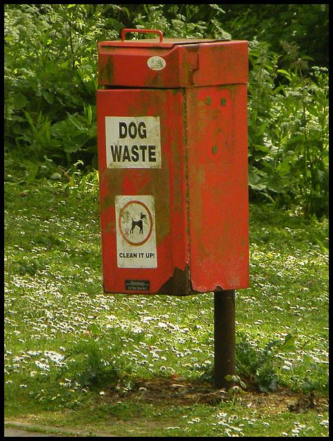 Staffordshire dog bin