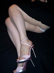 Tanya /  Peekaboo mood in high heels.