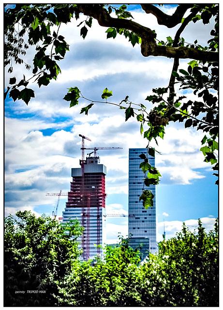 Basel Rocheturm II im Bau