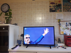Andrea Bocelli ha cantato per tutta l'Italia