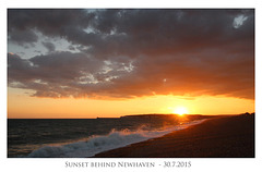 Sunset behind Newhaven - 30.7.2015