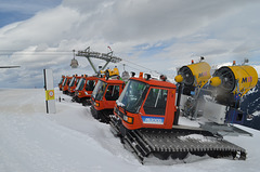 Silvretta Montafon, Snow Machines are Ready to Work