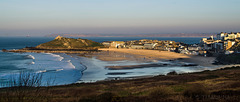 St Ives sunset, surfers and shadows