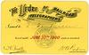 Order of Railroad Telegraphers Membership Card, 1900