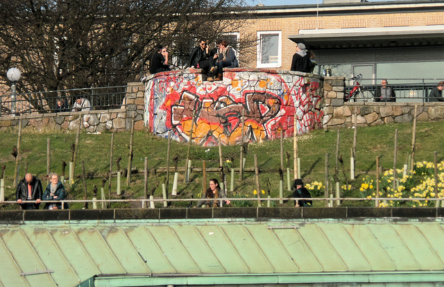Aussichtspunkt Stintfang über der Station >Landungsbrücken<