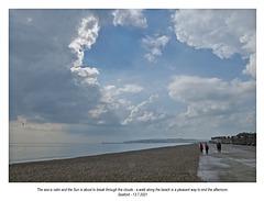 A walk under clearing skies ~ Seaford ~ 13 7 2021