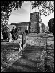 Churchyard footpath - Monochrome version