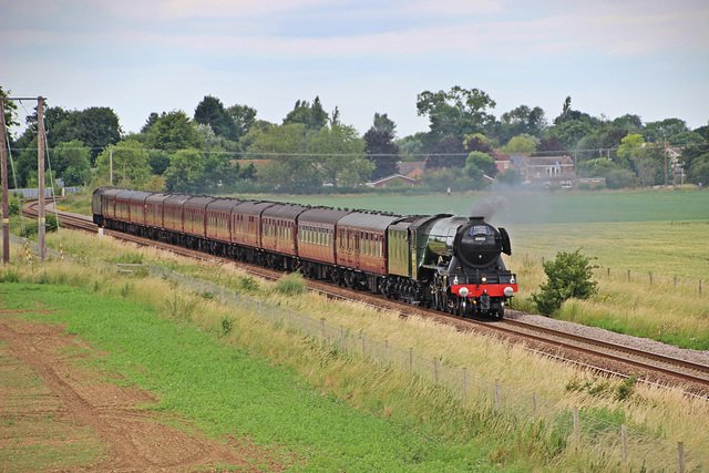 """LNER A3 Class 4-6-2 no 60103 Flying Scotsman on  """"THE SCARBOROUGH FLYER"""" 24th June 2017"""