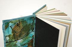 Teal Curderoy Jeans Book - Pastedown