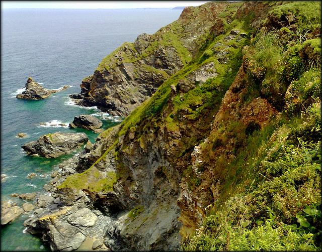 More erosion / unstable cliff.