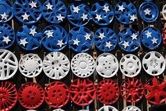Patriotic hubcaps