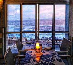Restaurant view across Walker Bay, Hermanus