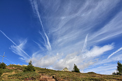 Schönwetterwolken über dem Steiner Mandl