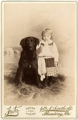 A Big Dog and a Little Kid