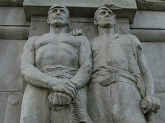 Detail of The Heroes of the Marine Engine Room, Pierhead , Liverpool