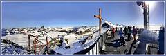 Zermatt : super panoramica dal punto più alto del Piccolo Cervino