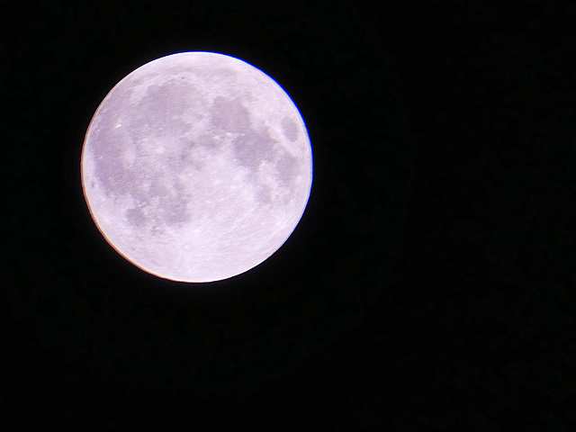 Front of the moon...